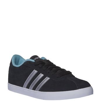 Tennis décontractée en daim adidas, Noir, 503-6685 - 13