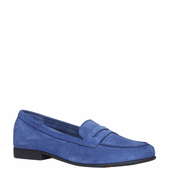 Penny Loafers en cuir flexible, Violet, 513-9196 - 13