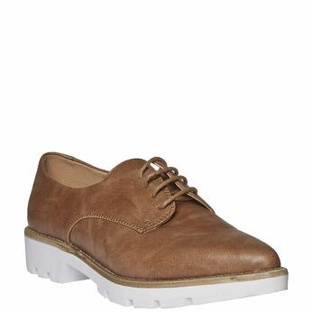 Chaussure basse à semelle épaisse bata, Brun, 521-3480 - 13