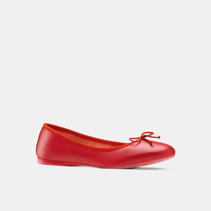 Ballerines en cuir bata, Rouge, 524-5144 - 13