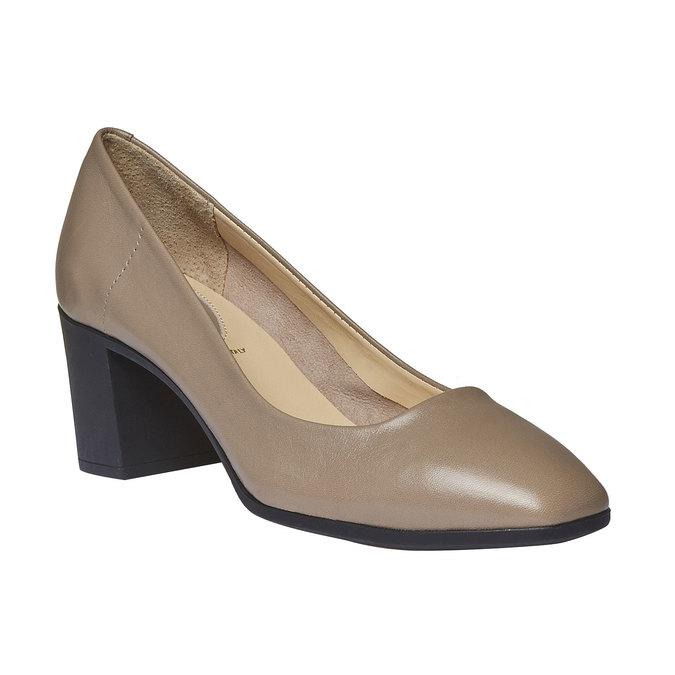 Escarpin en cuir pour femme flexible, Gris, 624-2706 - 13