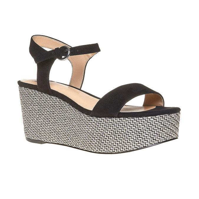 Sandale à plateforme bata, Noir, 769-6530 - 13