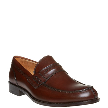 Penny Loafers en cuir pour homme bata-the-shoemaker, Brun, 814-4160 - 13