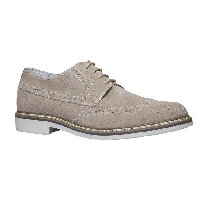 Chaussure lacée en cuir avec décoration Brogue bata, Jaune, 823-8603 - 13