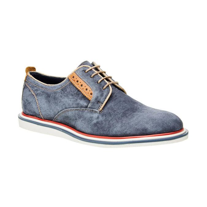 Chaussure lacée en cuir pour homme bata, Bleu, 823-9814 - 13