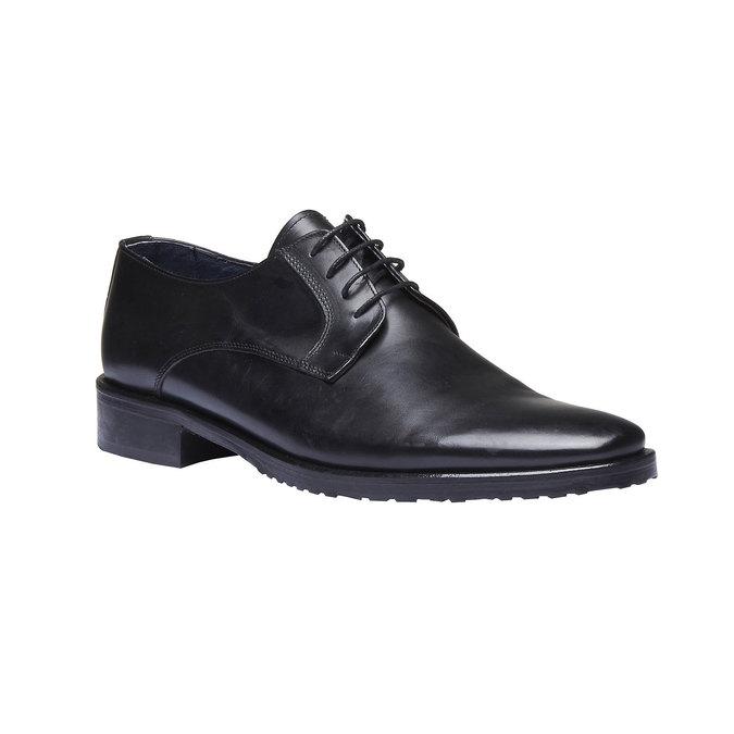 Chaussure lacée Derby en cuir bata, Noir, 824-6811 - 13
