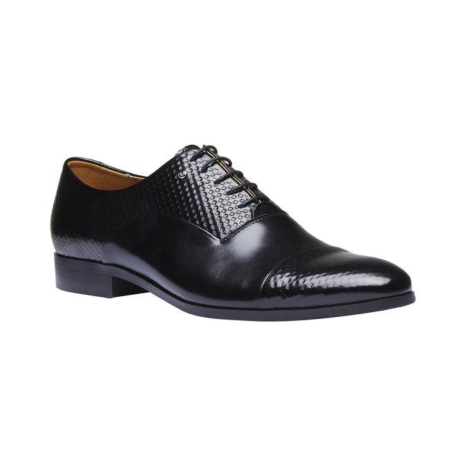 Chaussure lacée en cuir pour homme, Noir, 824-6819 - 13
