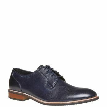 Chaussure en cuir style Derby bata, Violet, 824-9280 - 13