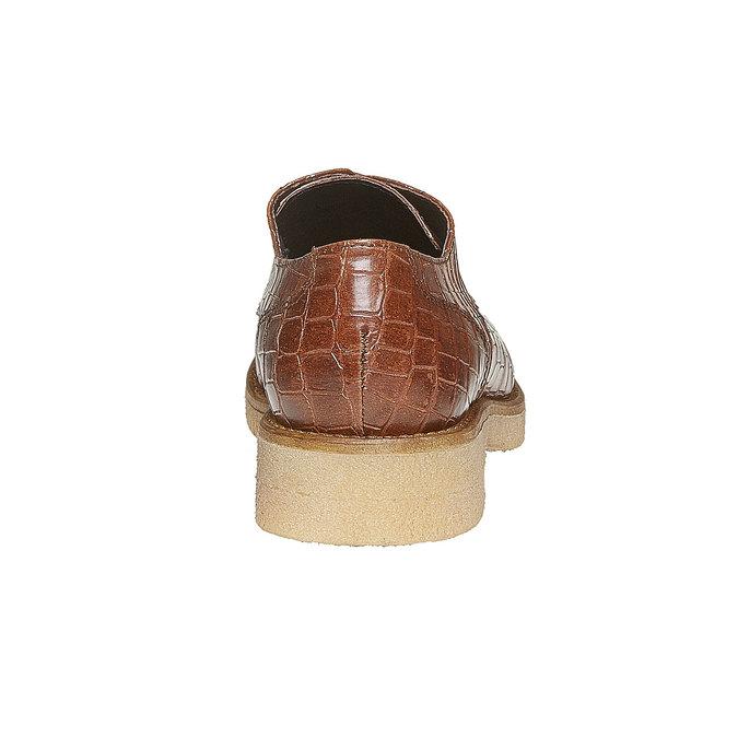 Chaussure lacée femme imitation cuir de crocodile bata, Brun, 521-3317 - 17