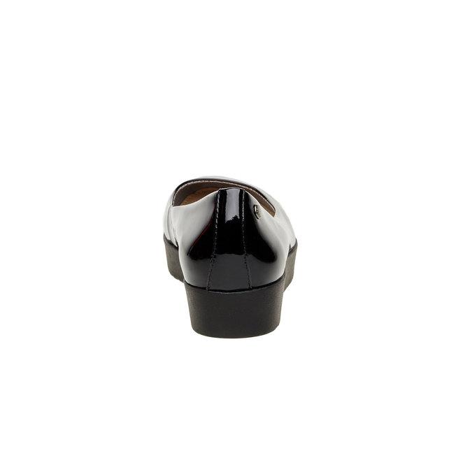 Ballerine en cuir à semelle épaisse vagabond, Noir, 518-6106 - 17