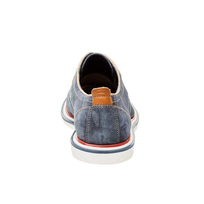 Chaussure lacée en cuir pour homme bata, Bleu, 823-9814 - 17