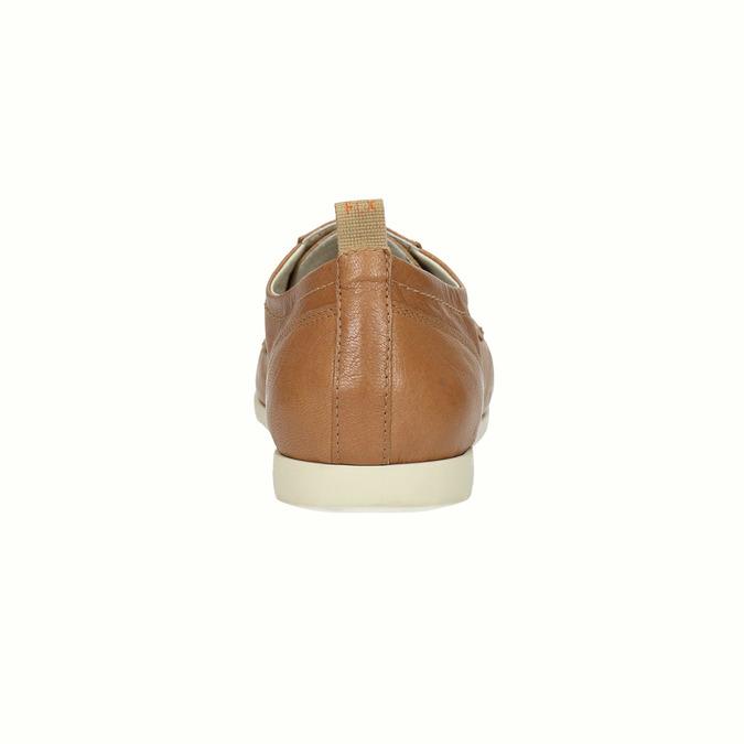 Chaussure lacée décontractée en cuir flexible, Brun, 524-3565 - 17