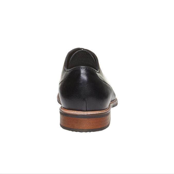 Chaussure lacée en cuir pour homme style Derby bata, Noir, 824-6280 - 17