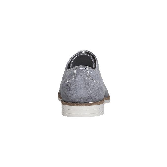Chaussure lacée Derby en cuir bata, Gris, 823-2558 - 17