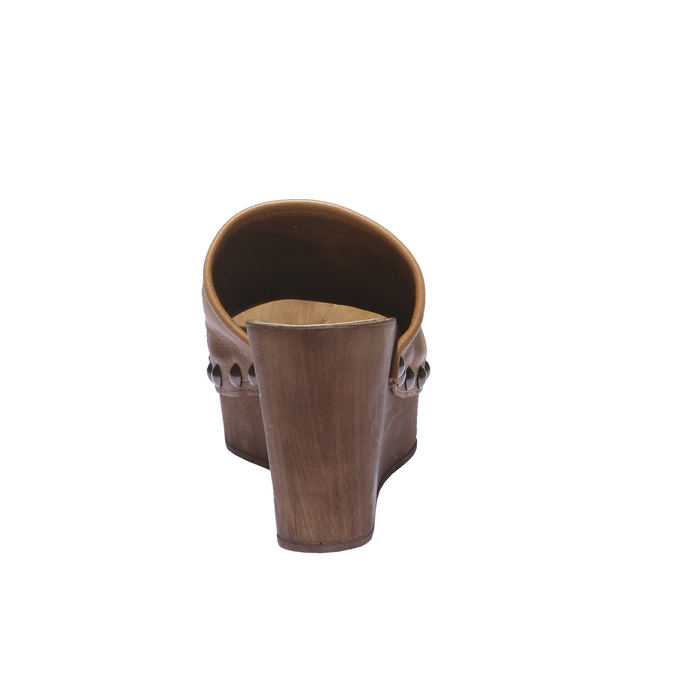 Sabots en cuir bata, Brun, 764-3232 - 17