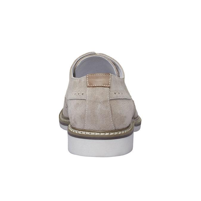 Chaussure lacée en cuir avec décoration Brogue bata, Jaune, 823-8603 - 17