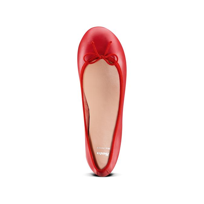 Ballerines en cuir bata, Rouge, 524-5144 - 17