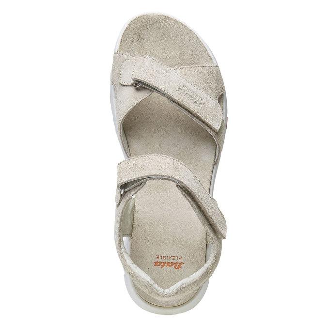 Sandale en cuir femme flexible, Jaune, 563-8397 - 19