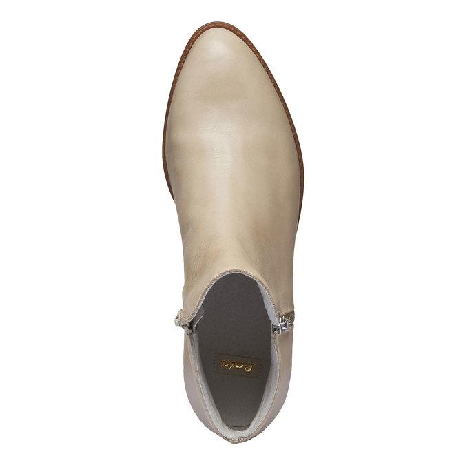Bottine en cuir avec zips bata, Jaune, 594-8670 - 19