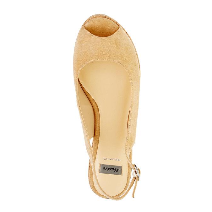 Sandale à plateforme fermée sur les côtés bata, Jaune, 769-8521 - 19