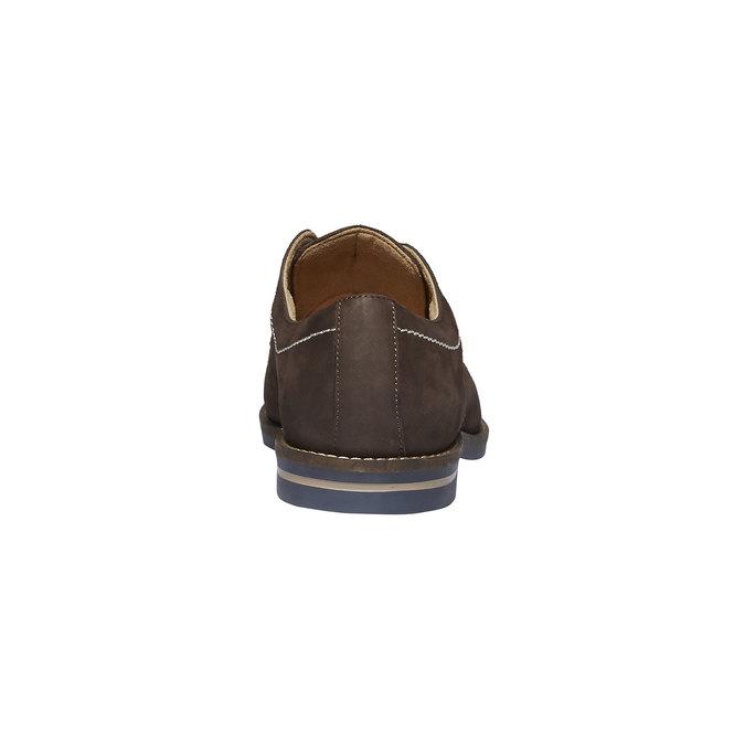 Chaussure lacée en cuir surpiquée bata, Brun, 826-4642 - 17