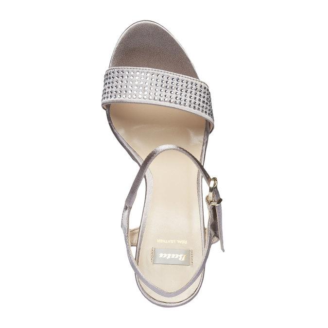 Sandale à talon Stiletto haut bata, Jaune, 769-8557 - 19