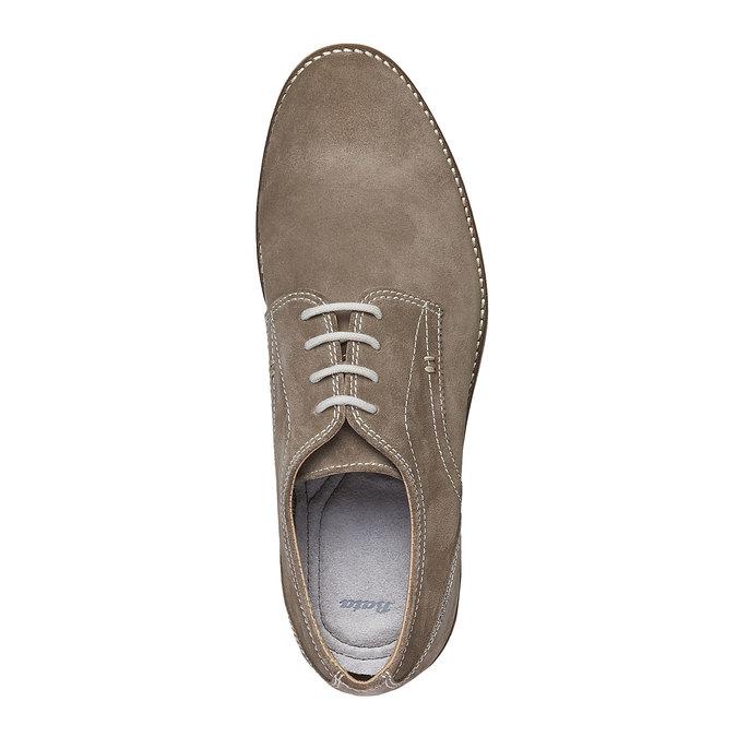 Chaussure lacée Derby en cuir bata, Jaune, 823-8558 - 19