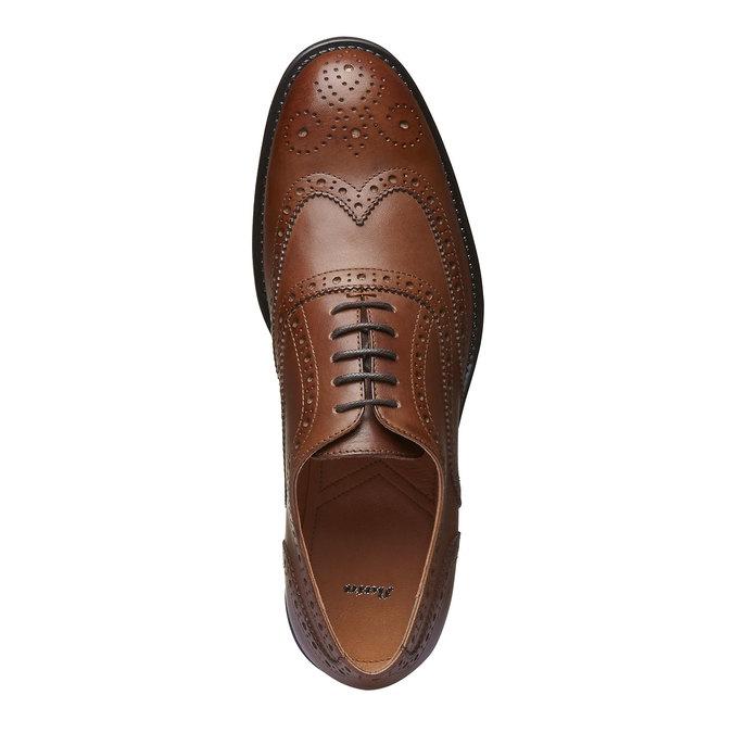 Chaussure lacée en cuir avec décoration Brogue bata, Brun, 824-3801 - 19