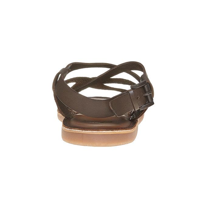 Sandale en cuir homme shoemaker, Brun, 864-4235 - 17