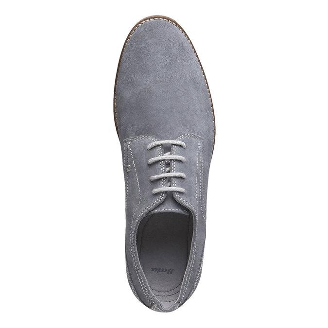 Chaussure lacée Derby en cuir bata, Gris, 823-2558 - 19