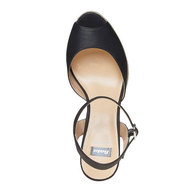 Sandale à plateforme bata, Noir, 761-6520 - 19