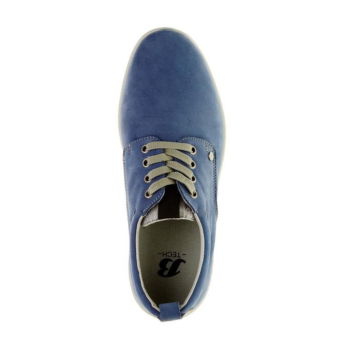 Chaussure lacée décontractée en cuir, Bleu, 843-9630 - 19