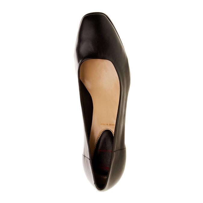 Escarpins en cuir flexible, Noir, 624-6706 - 19