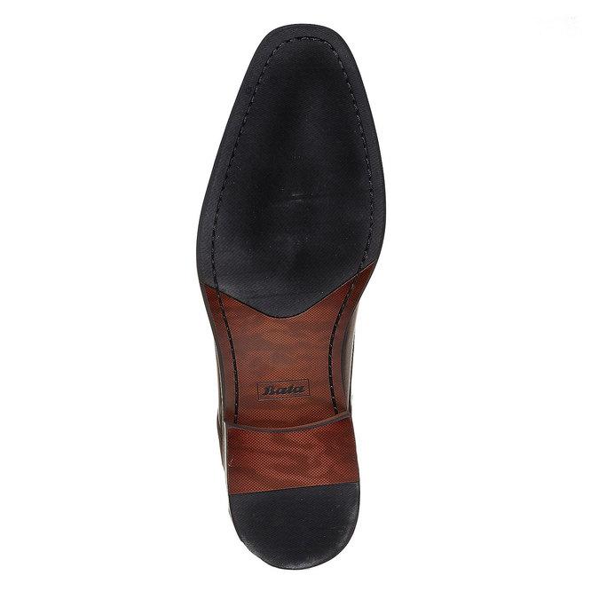 Chaussure lacée Derby en cuir bata, Brun, 824-4311 - 26