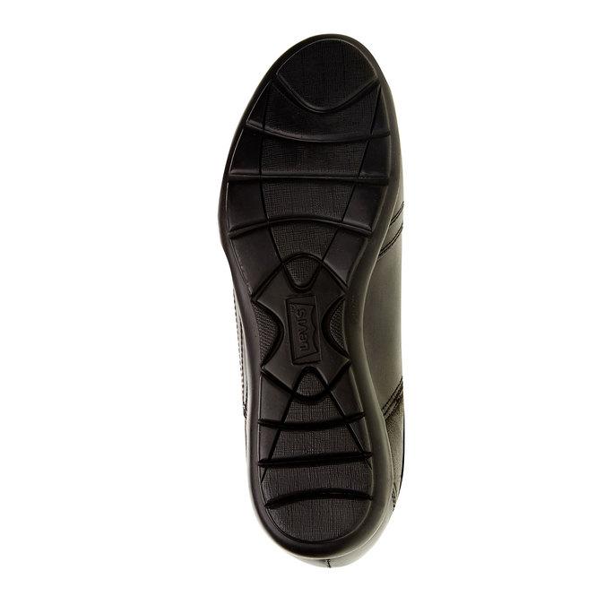 Basket décontractée en cuir levis, Noir, 844-6544 - 26