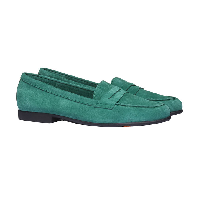 Penny Loafers en cuir flexible, Vert, 513-7196 - 26