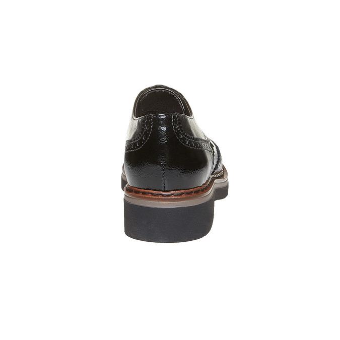Chaussure lacée à semelle épaisse avec motifs Brogue bata, Noir, 521-6356 - 17