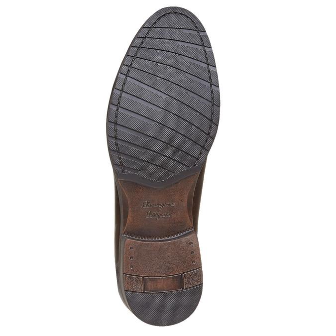 Chaussure décontractée en cuir bata, Brun, 824-4617 - 26