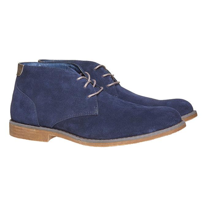 Chukka Boots en cuir homme bata, Bleu, 843-9380 - 26