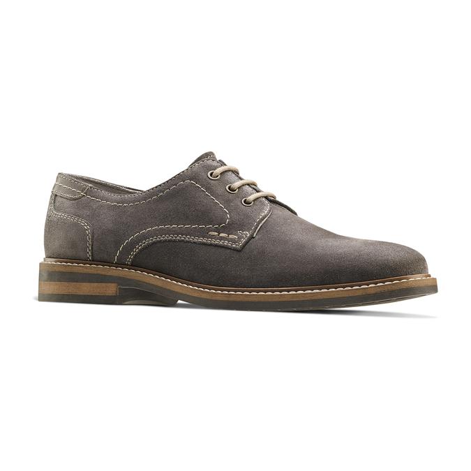 Chaussure décontractée en cuir bata, Gris, 823-2608 - 13