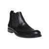 Chelsea Boots en cuir pour homme avec des motifs Brogue bata, Noir, 894-6201 - 13
