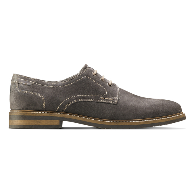 Chaussure décontractée en cuir bata, Gris, 823-2608 - 26