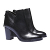 Bottines en cuir bata, Noir, 794-6576 - 26
