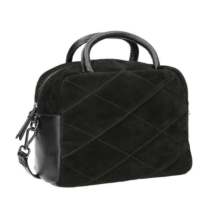 Petit sac bandoulière en cuir bata, Noir, 963-6133 - 13