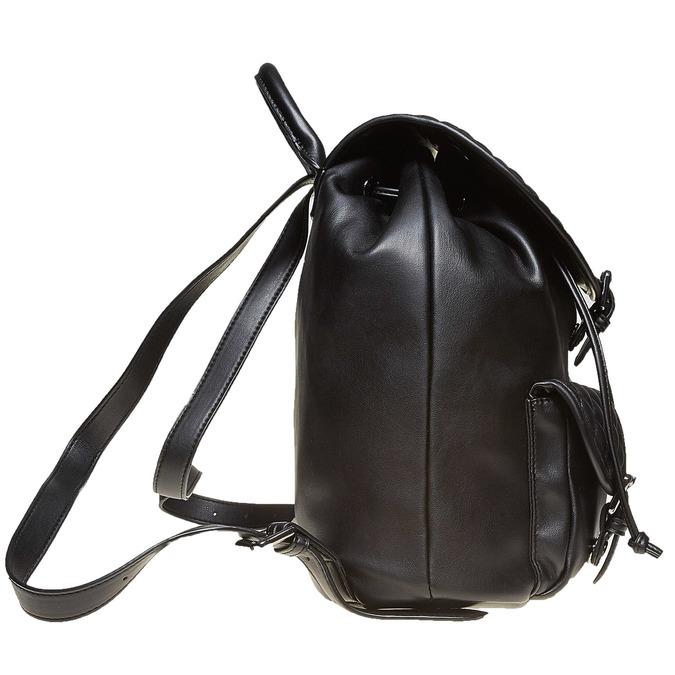 Sac à dos surpiqué élégant bata, Noir, 961-6607 - 26