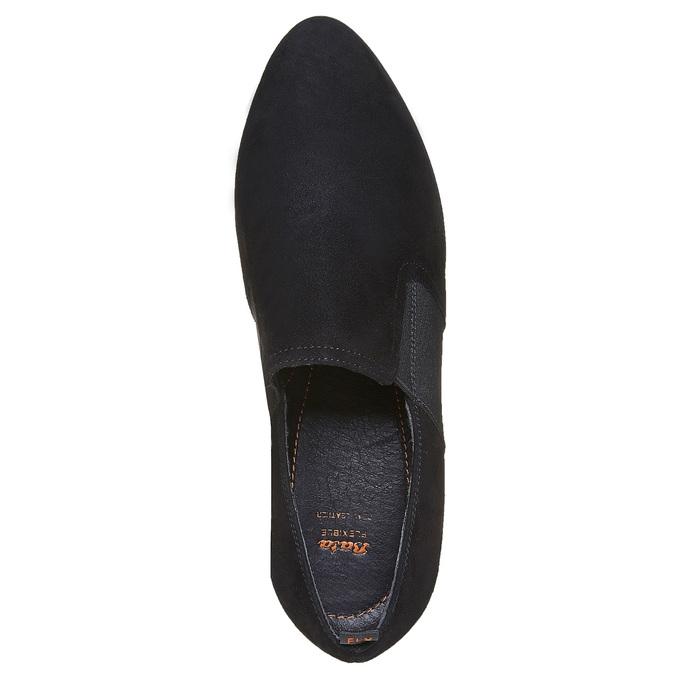 Chaussure à talon en cuir flexible, Noir, 613-6111 - 19