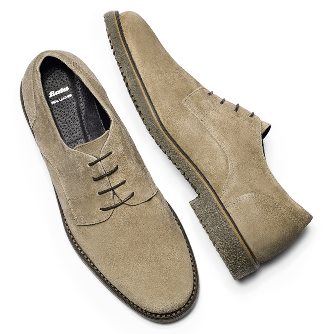 Chaussures Homme bata, Gris, 823-2523 - 19