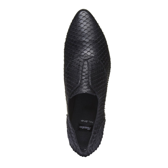 Chaussure lacée en cuir pour femme bata, Noir, 514-6212 - 19