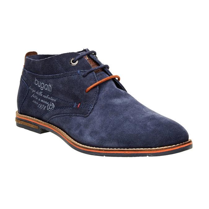 Chaussure lacée montante en cuir bugatti, Violet, 823-9542 - 13