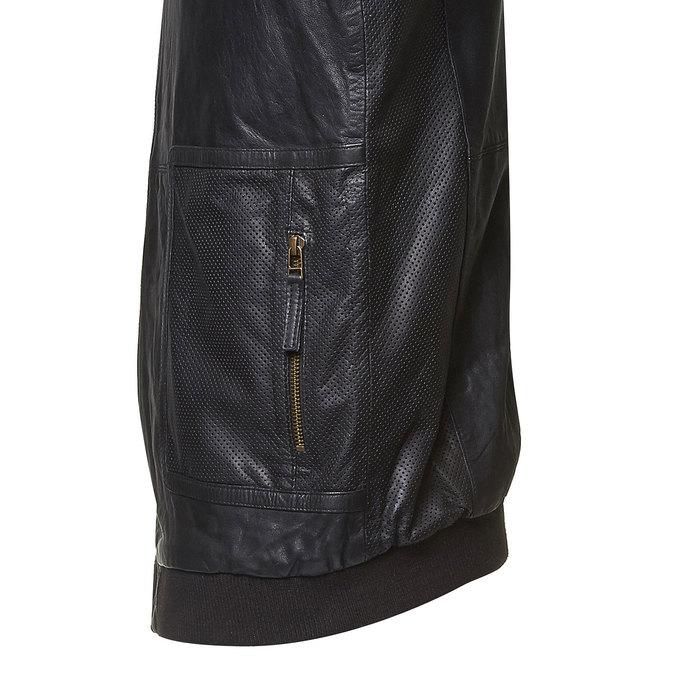 Veste en cuir pour homme bata, Noir, 974-6149 - 16